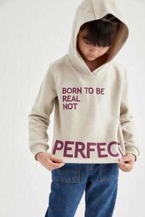 فروش سویشرت دخترانه نخی برند دفاکتو ترک رنگ بژ کد ty63025356