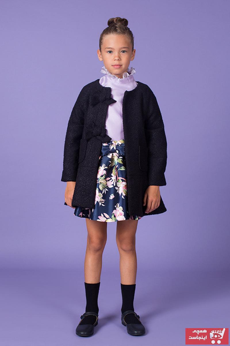 کاپشن دخترانه ست برند GOOSE رنگ لاجوردی کد ty66124683