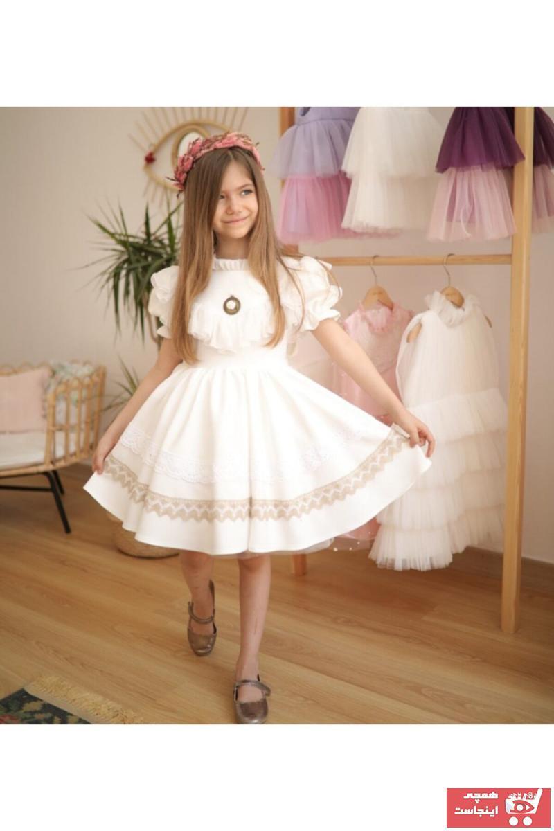 فروشگاه پیراهن دخترانه تابستانی برند ipek ipekçi رنگ بژ کد ty68433534