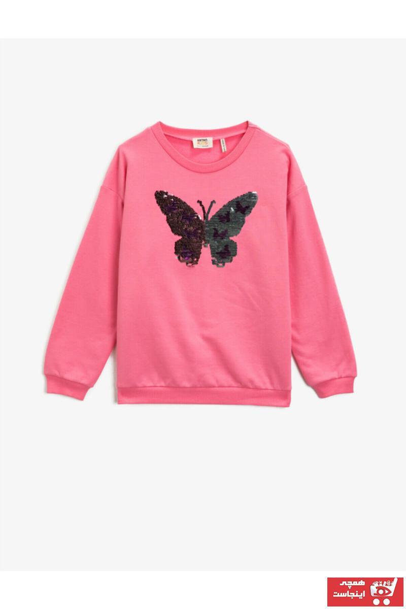خرید پستی سویشرت شیک دخترانه برند Koton Kids رنگ صورتی ty73274727