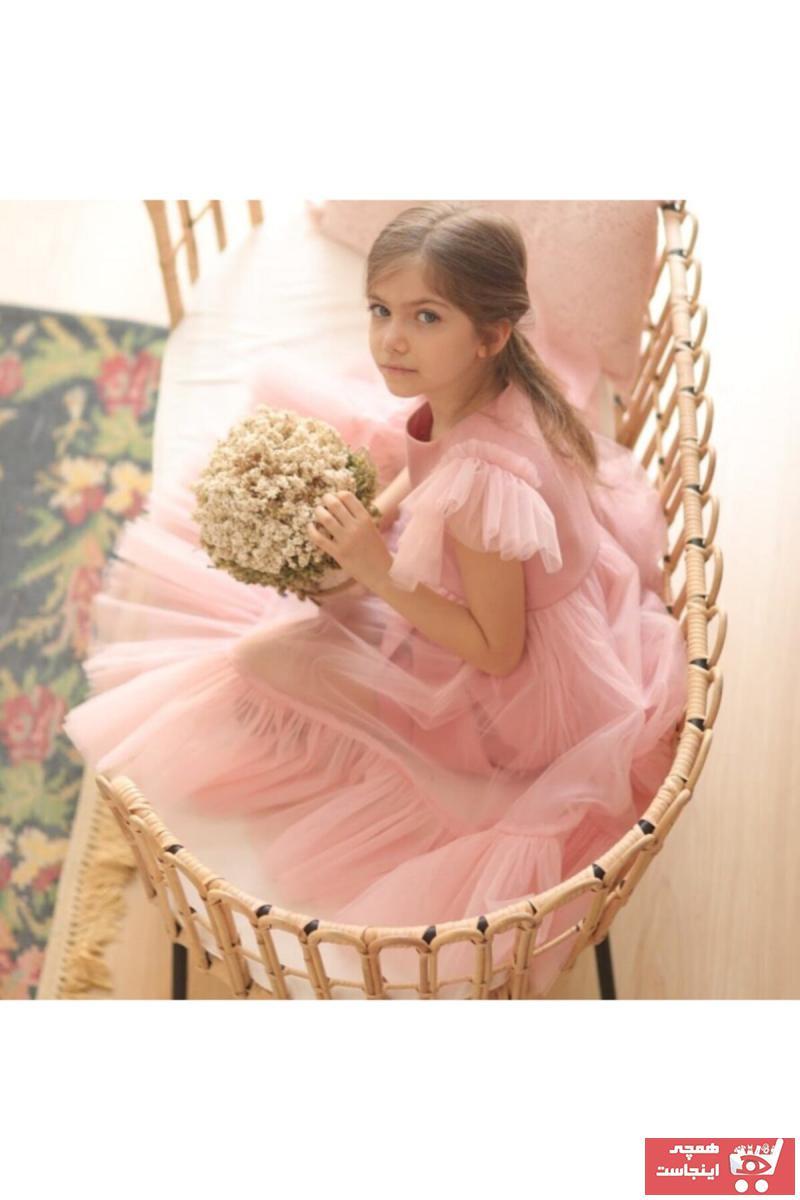 فروش اینترنتی پیراهن دخترانه با قیمت برند ipek ipekçi رنگ صورتی ty75019823