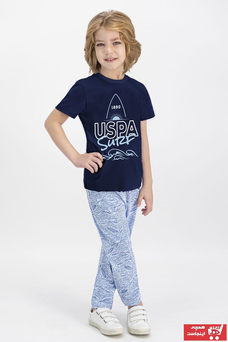 ست راحتی دخترانه ترک مارک U.S. Polo Assn.برند US Polo رنگ لاجوردی کد ty82927045