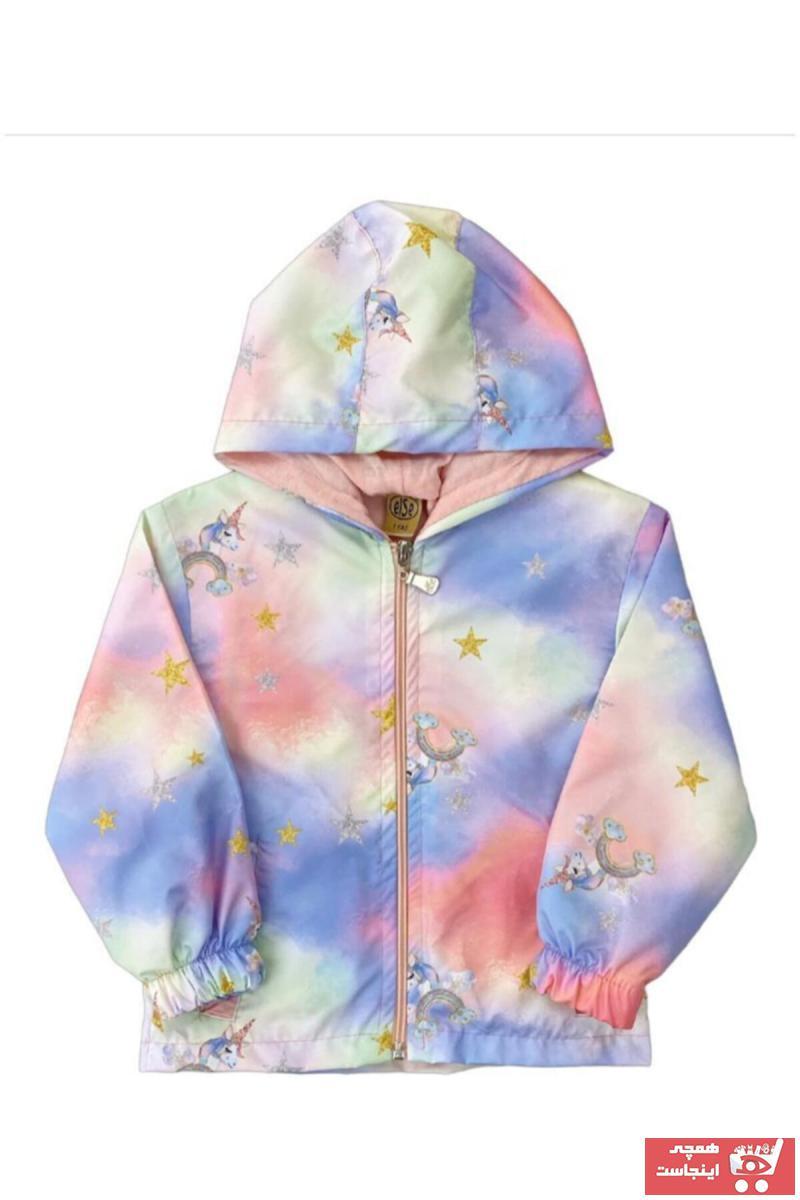 فروش بارانی دخترانه حراجی برند Else Bebe رنگ صورتی ty84459136