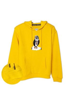 سویشرت دخترانه شیک مجلسی برند Fenomen Ürünler رنگ زرد ty88854434