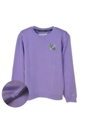 فروش سویشرت دخترانه نخی برند Fenomen Ürünler رنگ بنفش کد ty90650397