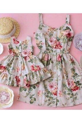پیراهن دخترانه با قیمت برند tunay moda رنگ بژ کد ty94285756