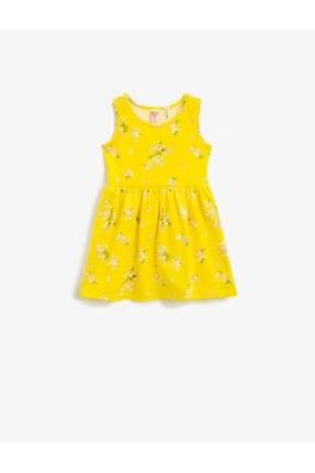 پیراهن دخترانه ترک جدید برند Koton Kids رنگ زرد ty95472423