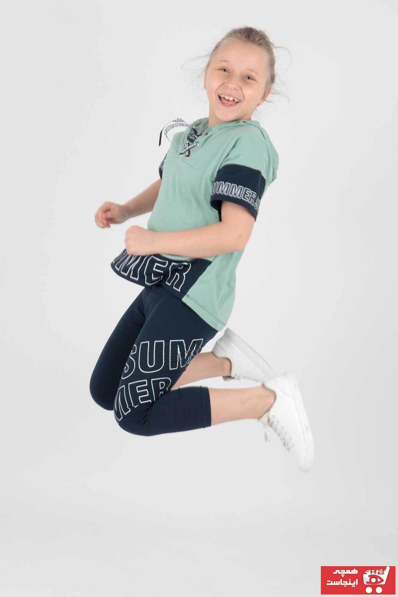 خرید اسان ست لباس دخترانه فانتزی برند Ahenk Kids رنگ سبز کد ty96007047
