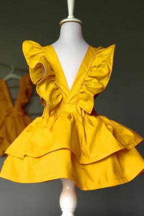 خرید نقدی پیراهن بهاری دخترانه برند Cool and Shark رنگ زرد ty96147817