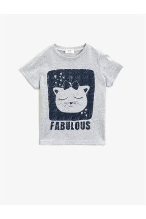 خرید ارزان تیشرت دخترانه فانتزی برند Koton Kids رنگ نقره ای کد ty96162915