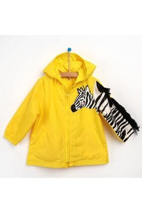خرید بارانی دخترانه شیک برند Midimod رنگ زرد ty96716908