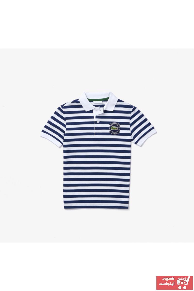 پولو شرت بچه گانه دخترانه قیمت برند لاگوست رنگ آبی کد ty98112823