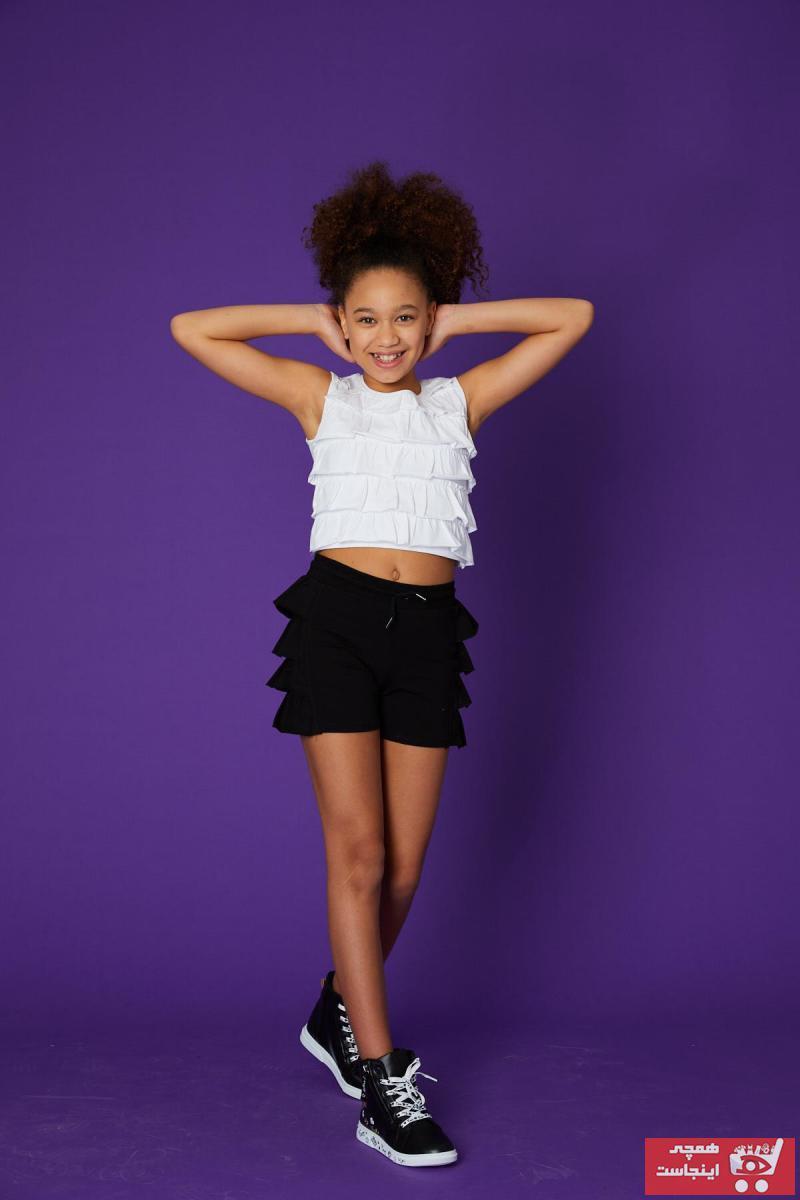شورتک دخترانه حراجی برند Little Star رنگ مشکی کد ty101407630