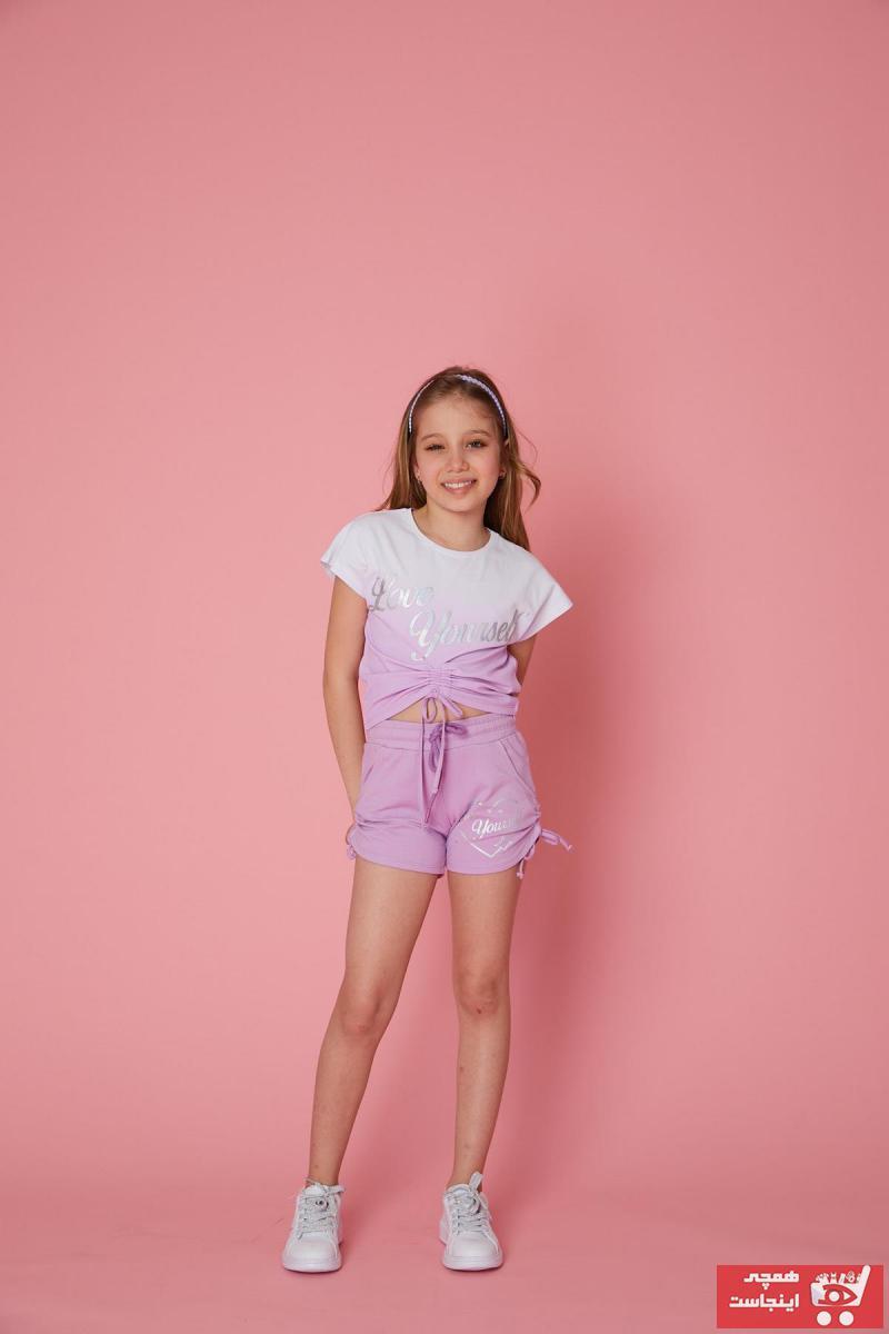 خرید اسان شلوارک دخترانه اسپرت جدید برند Little Star رنگ بنفش کد ty101408948