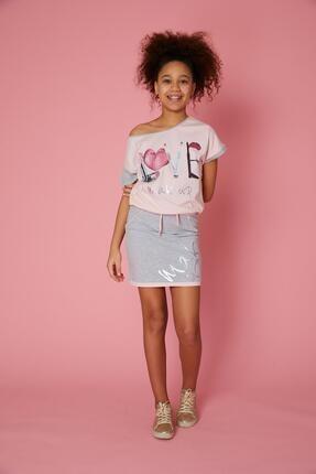خرید اسان دامن دخترانه اسپرت جدید برند Little Star رنگ نقره ای کد ty101418572