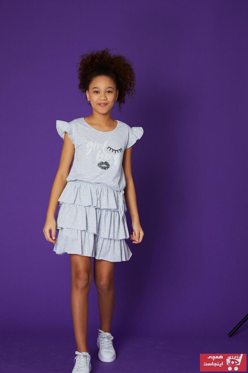 فروش دامن دخترانه فانتزی برند Little Star رنگ نقره ای کد ty101421502