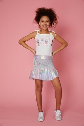 دامن دخترانه فانتزی برند Little Star رنگ نقره ای کد ty101767109