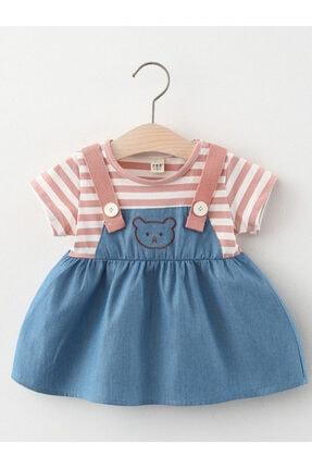 لباس مجلسی نوزاد دخترانه مدل دار برند Miny Miny Kids رنگ آبی کد ty108207802