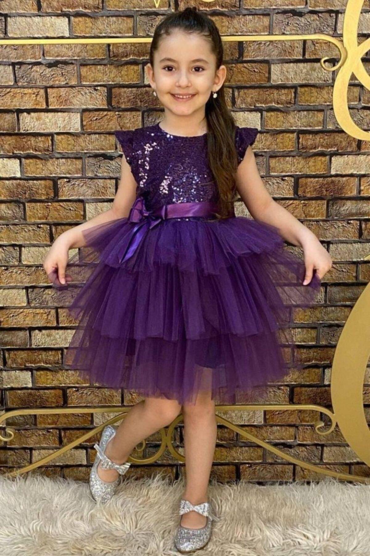 خرید اینترنتی لباس مجلسی دخترانه برند Riccotarz رنگ بنفش کد ty110643522