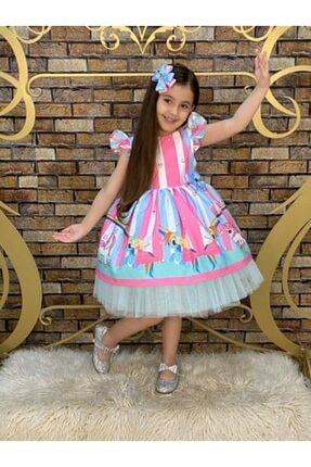 لباس مجلسی دخترانه مارک برند Pumpido رنگ آبی کد ty112375730