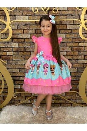 لباس مجلسی دخترانه ساده برند Pumpido رنگ صورتی ty113178641
