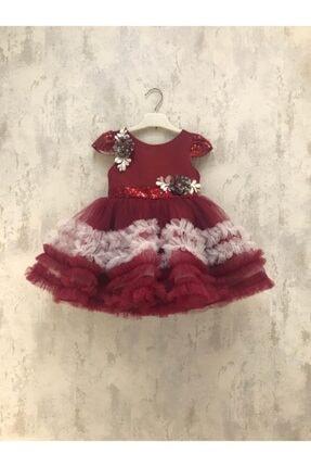 خرید لباس مجلسی خفن برند sunimikids رنگ زرشکی ty114825590