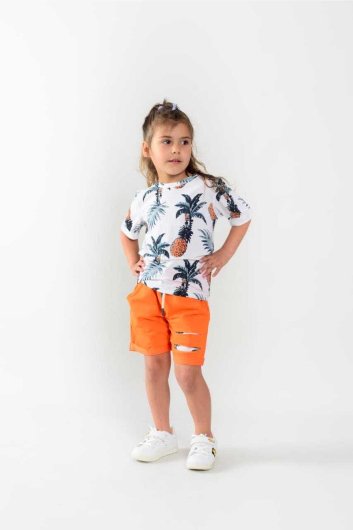 شورتک دخترانه قیمت برند ATÜTÜ رنگ نارنجی کد ty117146131
