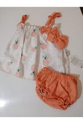 خرید انلاین لباس مجلسی نوزاد دخترانه فانتزی برند Yoyoo Bebe رنگ نارنجی کد ty118057179