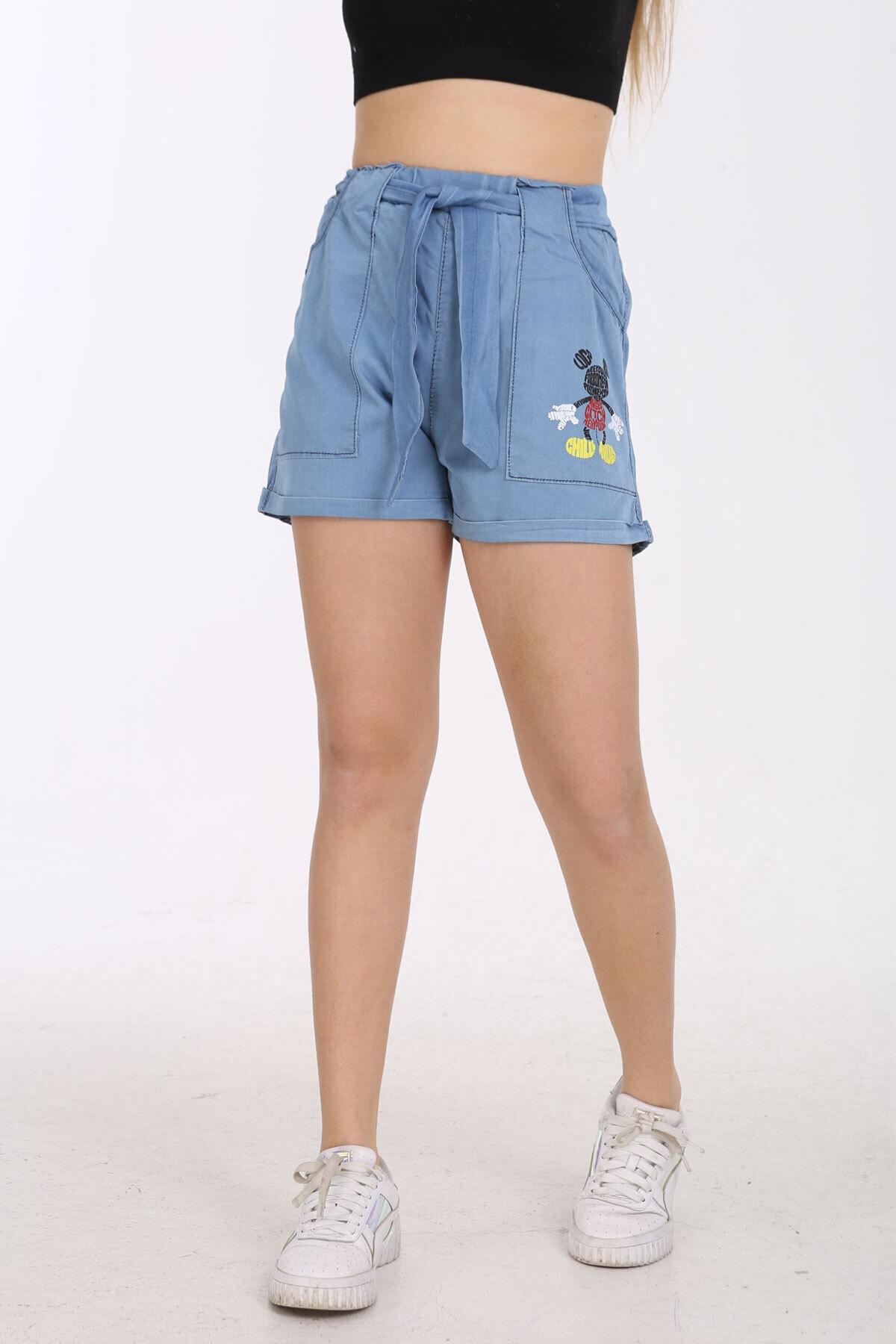 شورتک دخترانه با قیمت برند Enisena رنگ آبی کد ty120395562