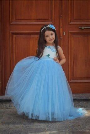 لباس مجلسی دخترانه ساده برند Magu رنگ آبی کد ty121991465
