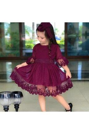 خرید نقدی لباس مجلسی دخترانه برند Riccotarz رنگ بنفش کد ty34349963