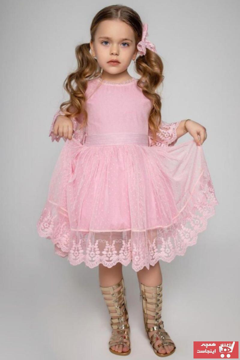 لباس مجلسی دخترانه ارزان برند Riccotarz رنگ نارنجی کد ty35657598