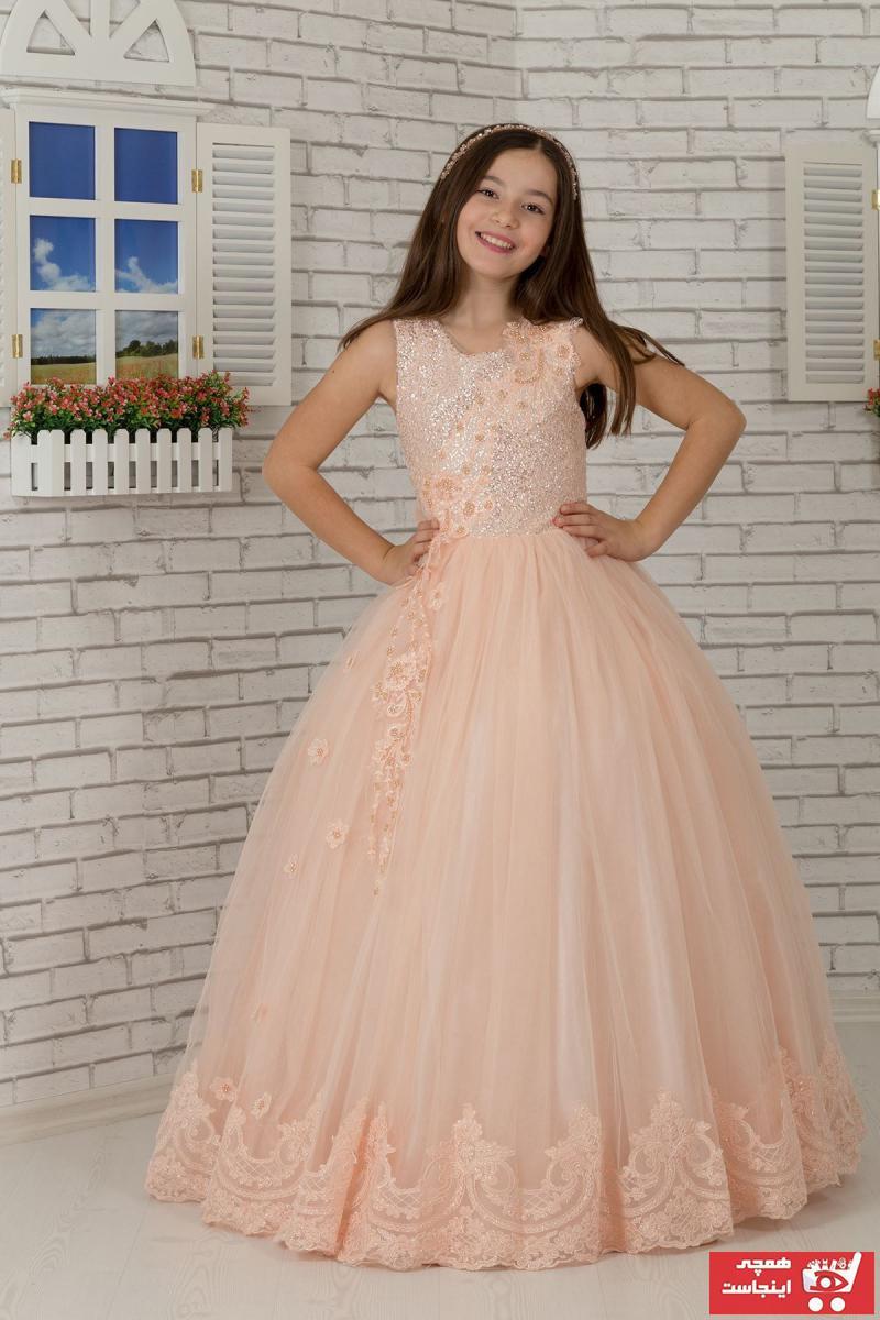خرید نقدی لباس مجلسی بهاری دخترانه برند AnilKids رنگ صورتی ty44174567