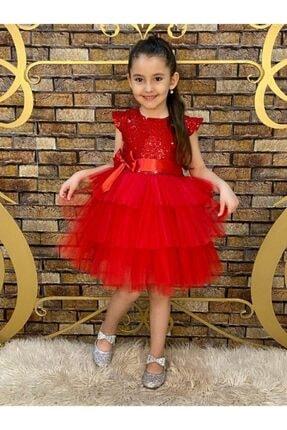 لباس مجلسی لباس مجلسی دخترانه برند Pumpido رنگ قرمز ty52210550