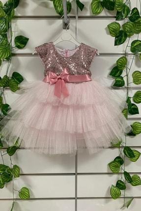 لباس مجلسی دخترانه کوتاه برند Pumpido رنگ صورتی ty52789160