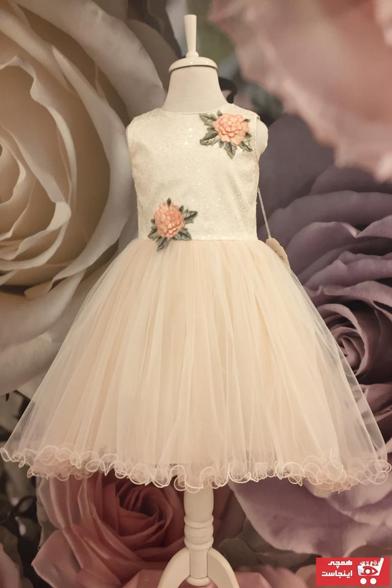 فروش انلاین لباس مجلسی دخترانه مجلسی برند Dide Kids رنگ صورتی ty72761238