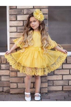 لباس مجلسی دخترانه قیمت برند Riccotarz رنگ زرد ty95169889