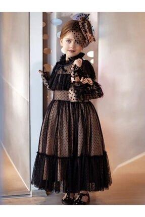 لباس مجلسی دخترانه مارک برند Riccotarz رنگ مشکی کد ty96148227