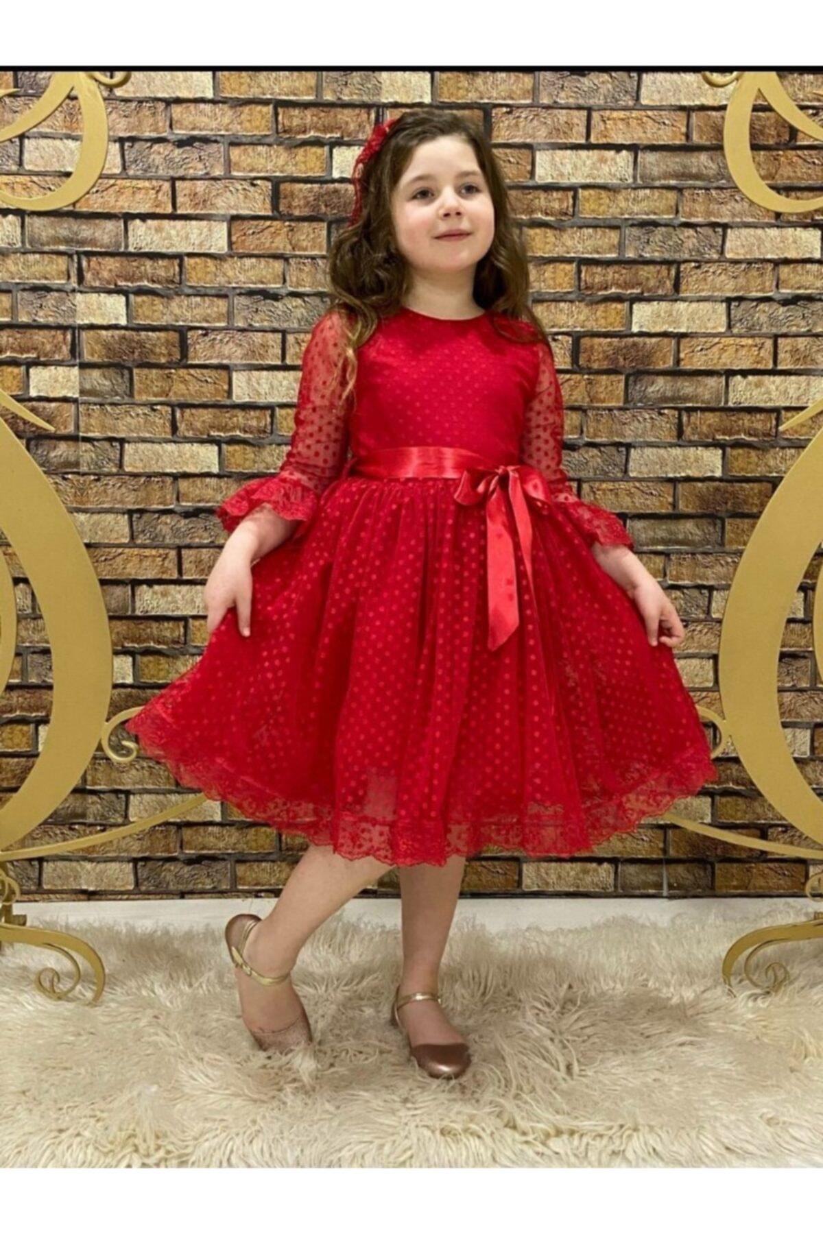 فروشگاه لباس مجلسی دخترانه اینترنتی برند Pumpido رنگ قرمز ty98270695