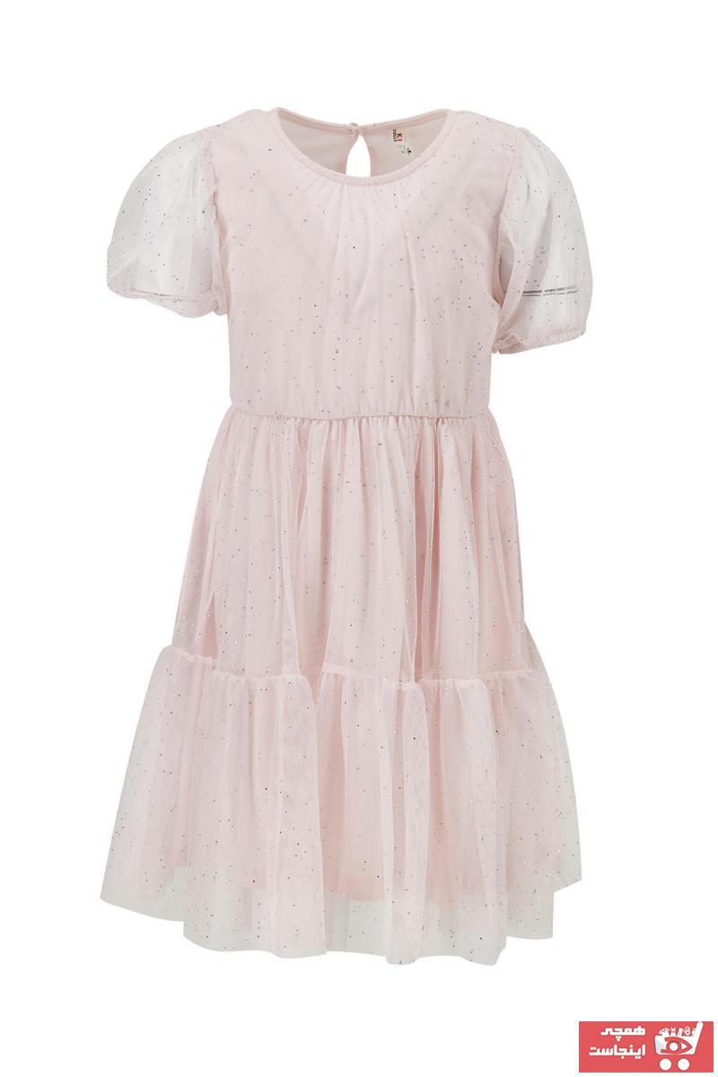 لباس مجلسی ساده برند دفاکتو رنگ صورتی ty98345588