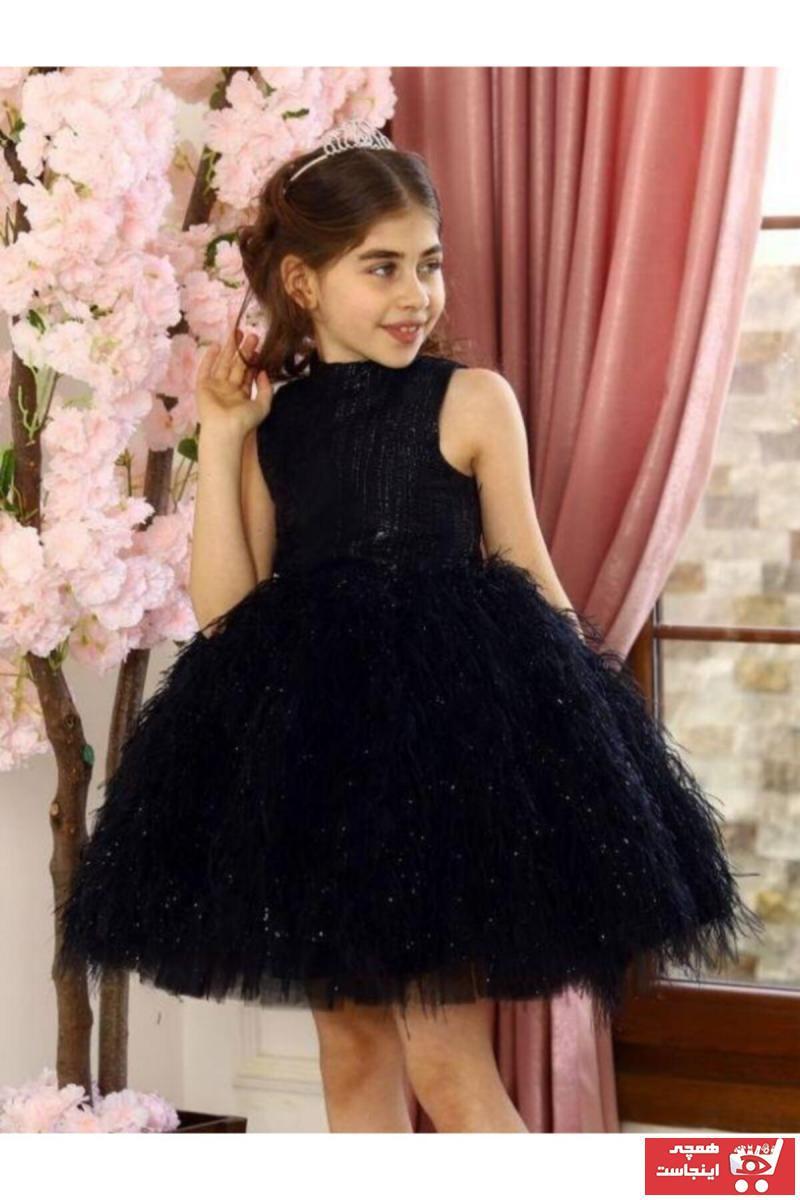 لباس مجلسی زیبا دخترانه برند Riccotarz رنگ مشکی کد ty99223584