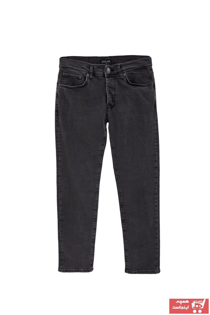 شلوار جین مردانه پارچه نخی برند Ltb رنگ نقره ای کد ty101288369