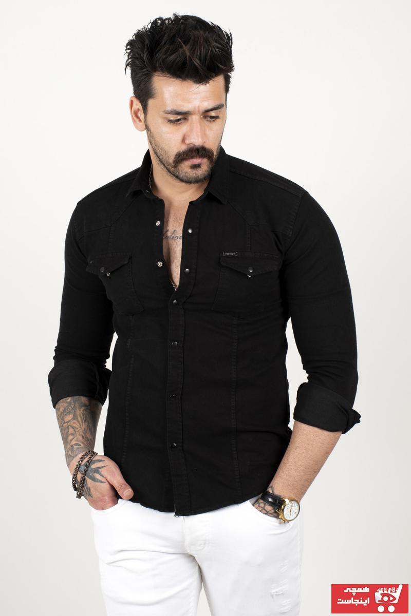 پیراهن مردانه ترک جدید برند DeepSEA رنگ مشکی کد ty103152481