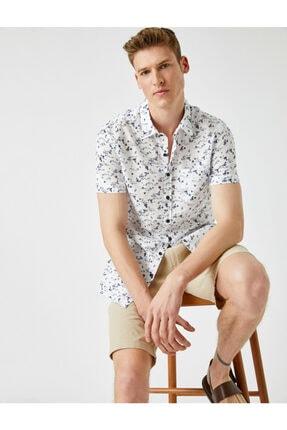 پیراهن مردانه ساده برند کوتون رنگ لاجوردی کد ty104189206