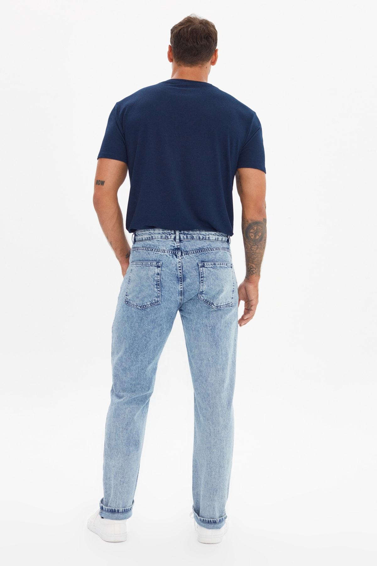 خرید انلاین شلوار جین زیبا مردانه برند ترندیول مرد رنگ آبی کد ty104339644