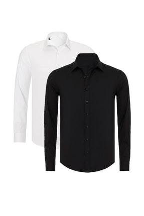 پیراهن کلاسیک 2021 مردانه برند R-Germen رنگ مشکی کد ty104356660