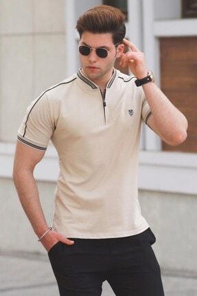 تی شرت مردانه طرح دار مارک مدمکس رنگ بژ کد ty104561257