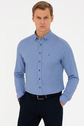 خرید پیراهن از ترکیه مارک پیرکاردن رنگ لاجوردی کد ty106289034