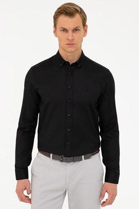 پیراهن مردانه فانتزی مارک پیرکاردن رنگ مشکی کد ty106289038