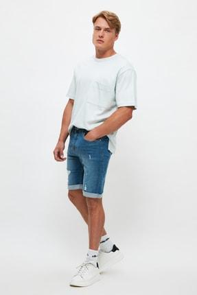 فروش شلوارک جدید مارک ترندیول مرد رنگ آبی کد ty106903306